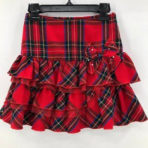 🎪🎪The Childrens Place tiered plaid skirt